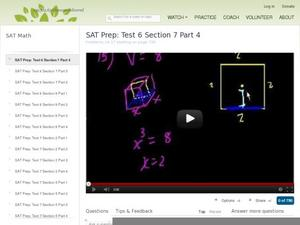 SAT Prep: Test 6 Section 7 Part 4 Video