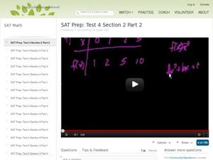 SAT Prep: Test 4 Section 2 Part 2 Video