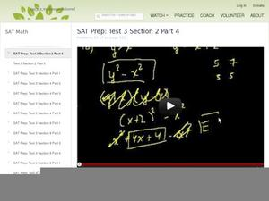 SAT Prep: Test 3 Section 2 Part 4 Video