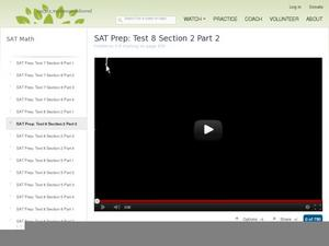 SAT Prep: Test 8 Section 2 Part 2 Video