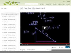 SAT Prep: Test 3 Section 4 Part 2 Video