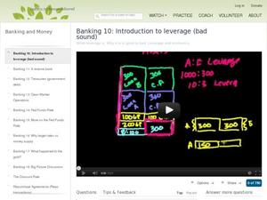 Banking 10: Introduction to leverage (bad sound) Video