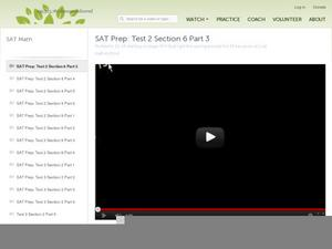 SAT Prep: Test 2 Section 6 Part 3 Video