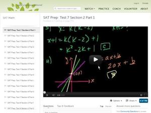 SAT Prep: Test 7 Section 2 Part 1 Video
