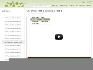 SAT Prep: Test 8 Section 2 Part 4 Video