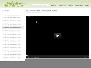 SAT Prep: Test 7 Section 8 Part 4 Video