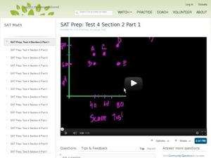 SAT Prep: Test 4 Section 2 Part 1 Video
