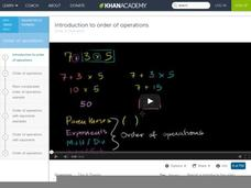 Introduction to Order of Operations Video