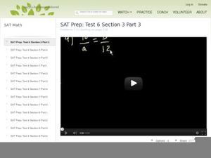 SAT Prep: Test 6 Section 3 Part 3 Video