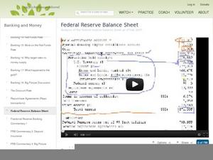Federal Reserve Balance Sheet Video