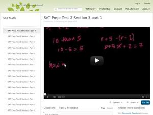 SAT Prep: Test 2 Section 3 Part 1 Video