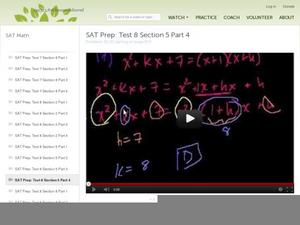 SAT Prep: Test 8 Section 5 Part 4 Video