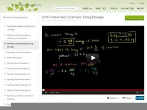 Unit Conversion Example: Drug Dosage Video