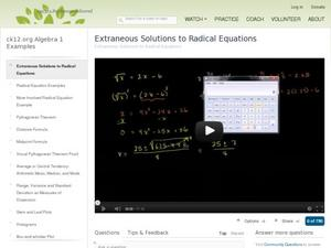 radical equations lesson plans worksheets reviewed by teachers. Black Bedroom Furniture Sets. Home Design Ideas