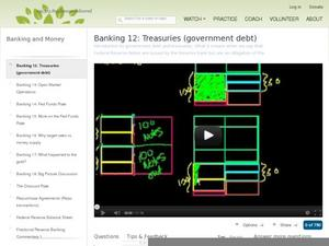 Banking 12: Treasuries (government debt) Video