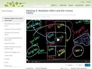 Banking 4: Multiplier effect And the money supply Video