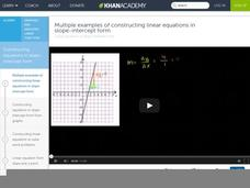 Linear Equations in Slope Intercept Form Video