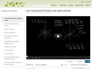 sp3 Hybridized Orbitals And Sigma Bonds Video