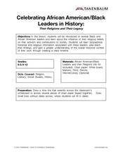 Celebrating African American/Black Leaders in History: Their Religions and Their Legacy Lesson Plan