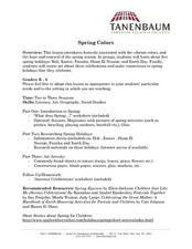 Spring Colors Lesson Plan