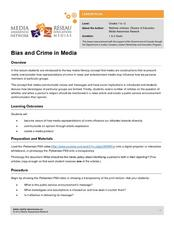 Bias and Crime in Media Lesson Plan