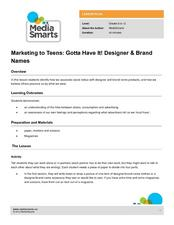 Marketing to Teens: Gotta Have It! Designer & Brand Names Lesson Plan