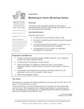 Marketing to Teens: Marketing Tactics Lesson Plan