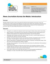 News Journalism Across the Media: Introduction Lesson Plan