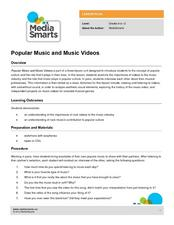 Popular Music and Music Videos Lesson Plan