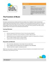 The Function of Music Lesson Plan