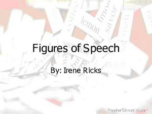 Figures of Speech Slide Show Presentation