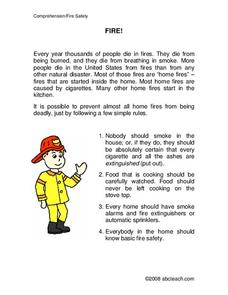Fire Safety Worksheet