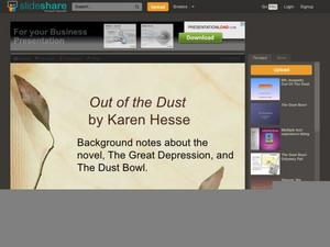 Out of the Dust: Background notes about the novel, The Great Depression, and The Dust Bowl Presentation