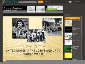 The Great Depression: 1930s through WWII Presentation