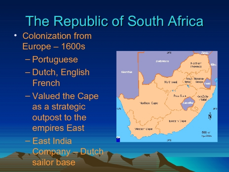 The Republic of South Africa Presentation