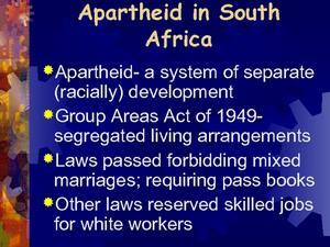 apartheid legislation in south africa