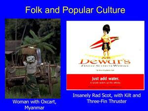 Folk and Popular Culture  Presentation
