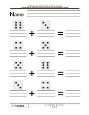 Count the Dice Worksheet