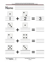 Counting Dice Worksheet