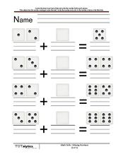 Fill in the Dice: Addition Worksheet