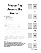 Measuring Around the House! Worksheet