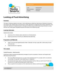 Looking at Food Advertising Lesson Plan