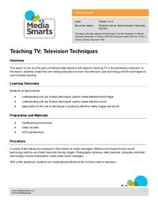 Teaching TV: Television Techniques Lesson Plan