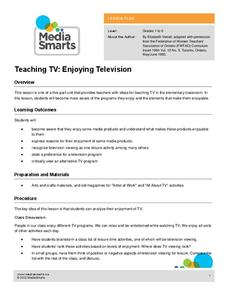 Teaching TV: Enjoying Television Lesson Plan