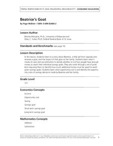 Beatrice's Goat: A Lesson on Savings Goals Lesson Plan