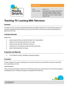 Teaching TV: Learning With Television Lesson Plan