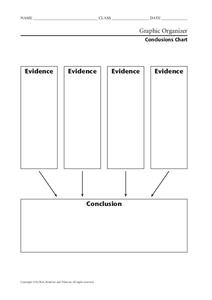 Conclusions Chart Graphic Organizer
