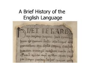 A Brief History of the English Language Presentation