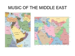 Music of the Middle East Presentation