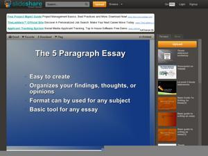 The 5 Paragraph Essay Presentation